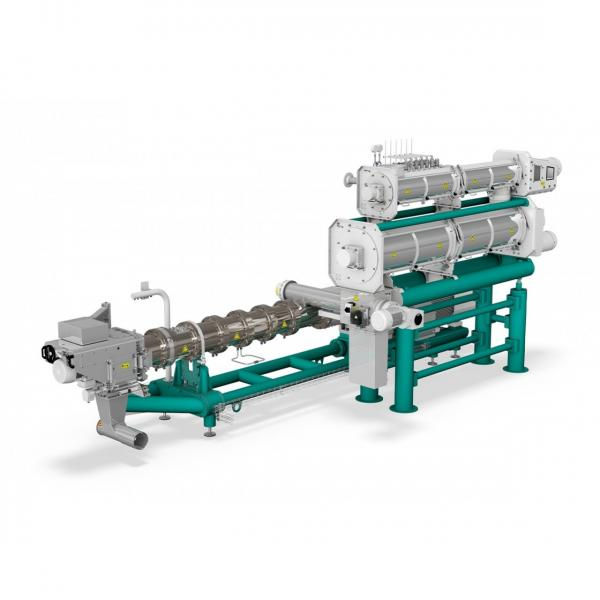 Slanty Snack Bar Twin Screw Extruder Prices Puffed Corn Chips Snacks Pellet Food Making Machinery Puff Snack Food Extrusion Machine